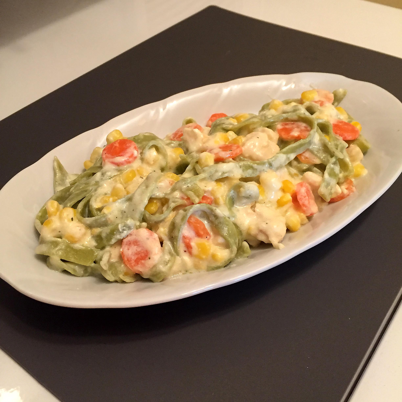 taljatele sa piletinom i povrćem